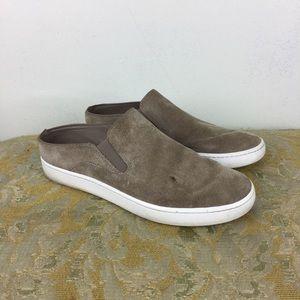 Vince Verrell Suede Slip-On Beige Sneaker
